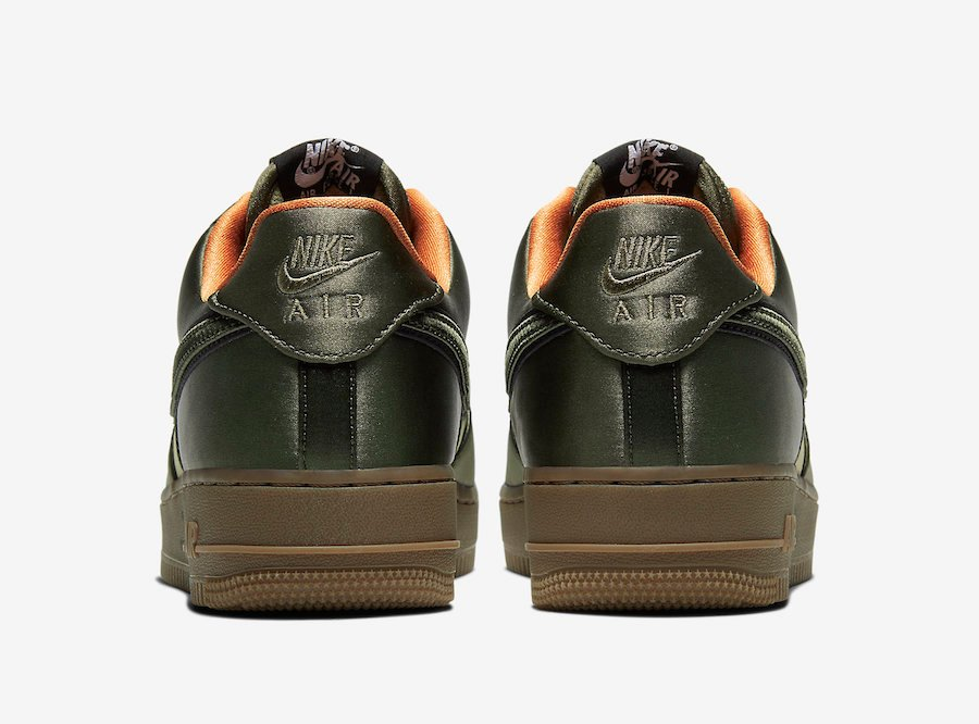 Nike Air Force 1 Low Quilted Flight Jacket Olive CU6724-333 Release Date Info