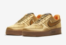 Nike Air Force 1 Low Quilted Gold Flight Jacket CU6724-777 Release Date Info