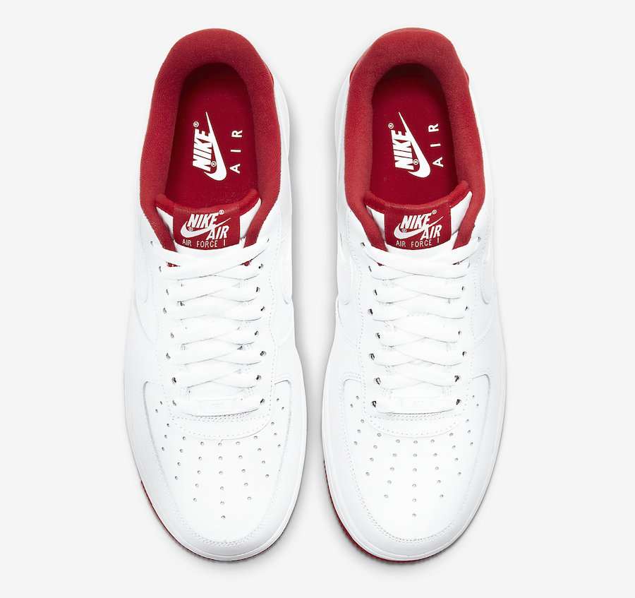 Nike Air Force 1 Low White University Red CD0884-101 Release Date Info
