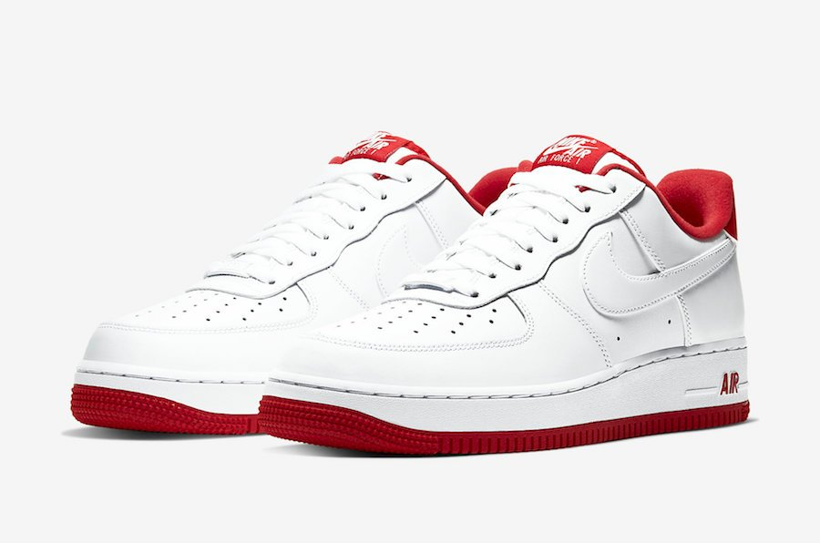 Nike Air Force 1 Low White University Red CD0884-101 Release Date Info | SneakerFiles