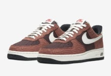 Nike Air Force 1 PRM Red Bark Snakeskin CV5567-200 Release Date Info