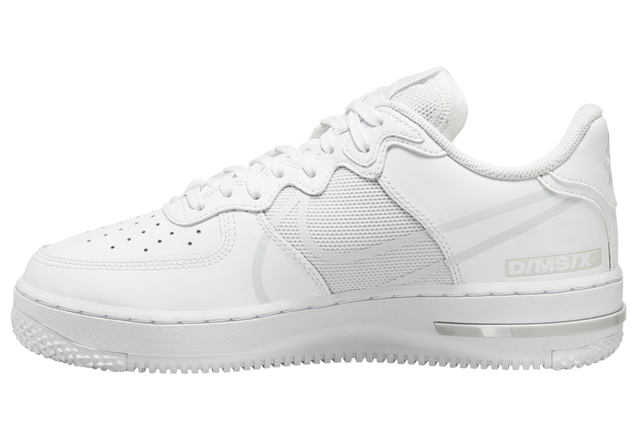 Nike Air Force 1 React White Pure Platinum CT1020-101 Release Date Info