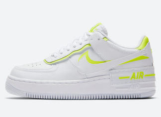 Nike Air Force 1 Shadow White Volt CI0919-104 Release Date Info