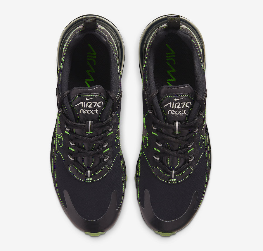 Nike Air Max 270 React Black Electric Green CQ6549-001 Release Date