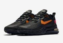 Nike Air Max 270 React Black Orange Red CV1641-001 Release Date Info