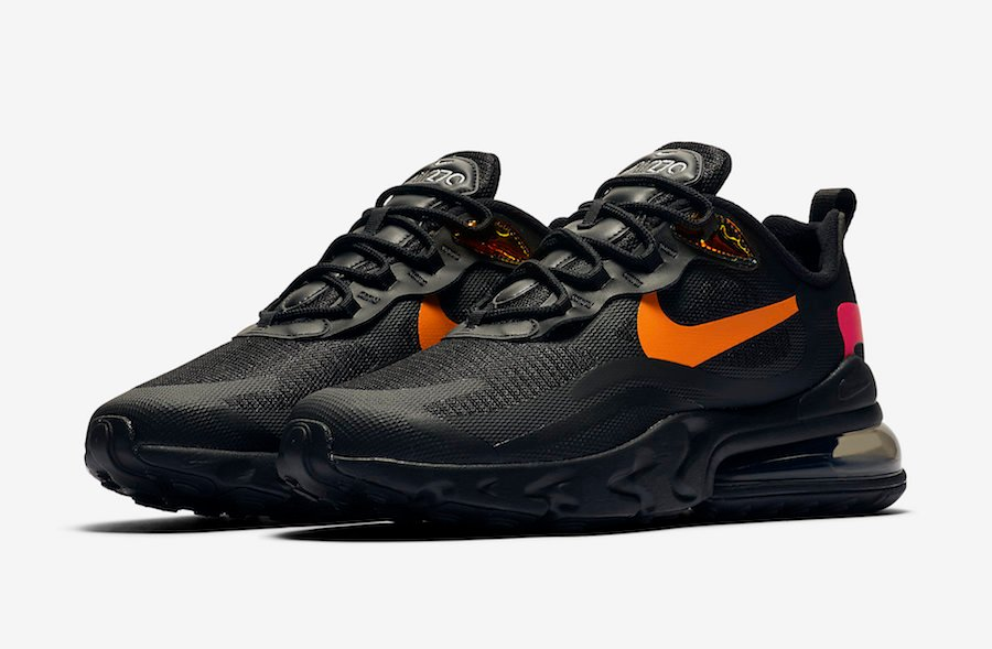 Nike Air Max 270 React Black Orange Red Cv1641 001 Release Date Info Sneakerfiles