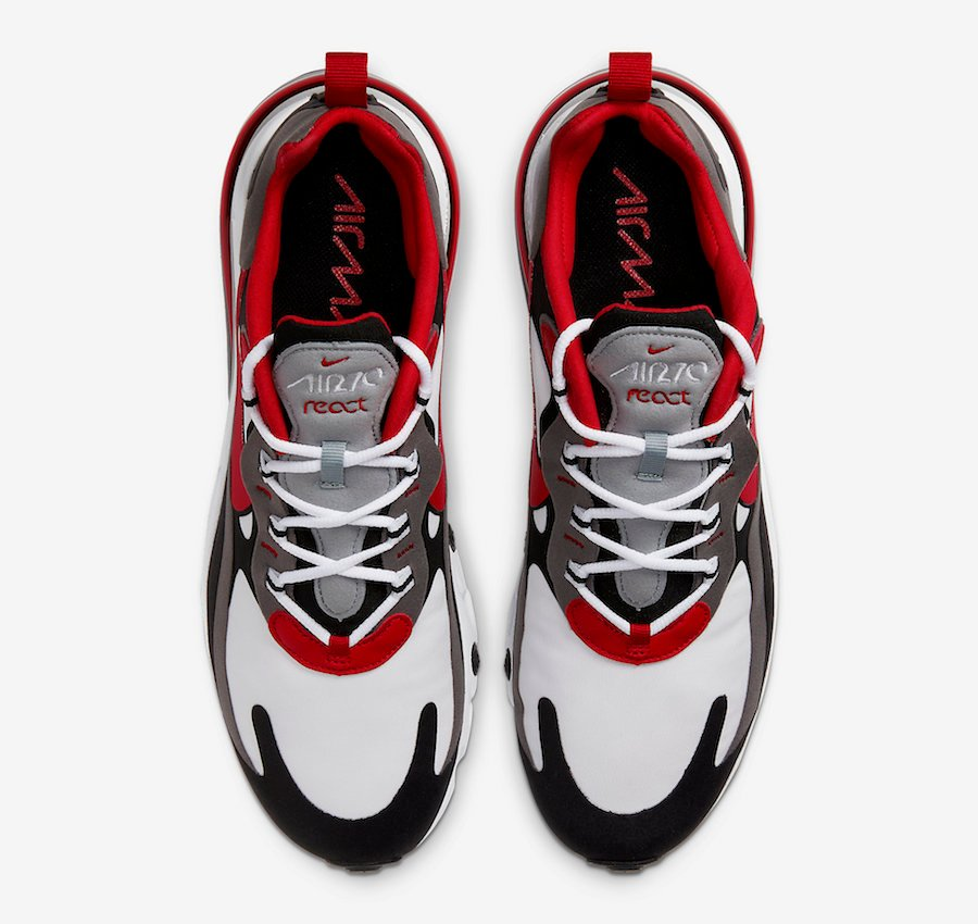 Nike Air Max 270 React Grey Black University Red CI3866-002 Release Date Info