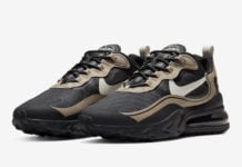 Nike Air Max 270 React Just Do It Black Tan CV1632-001 Release Date Info