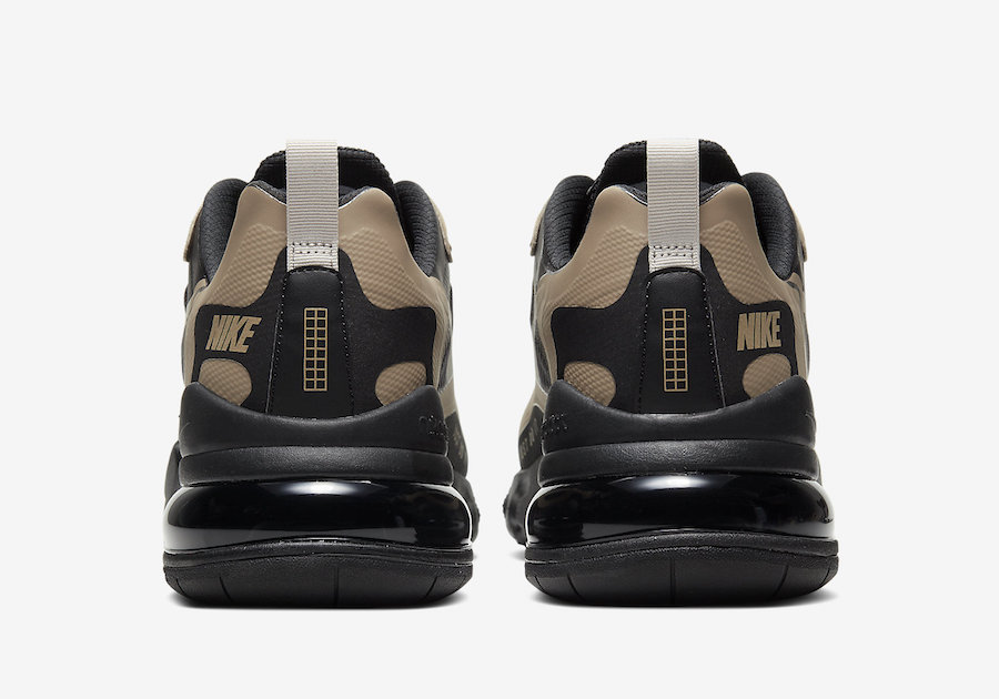 Nike Air Max 270 React Just Do It Black Tan CV1632-001 Release Date Info