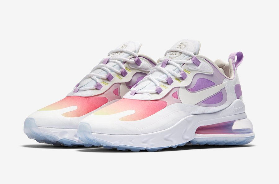 Nike Air Max 270 React Pastel Yellow Pink Purple Cu2995 911