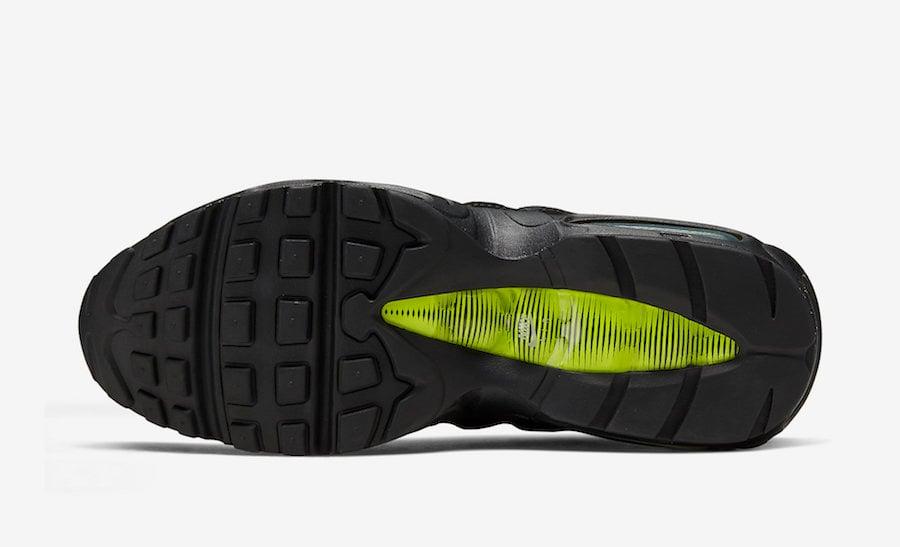 Nike Air Max 95 Retro Logo Black Green Volt CV1635-002 Release Date Info