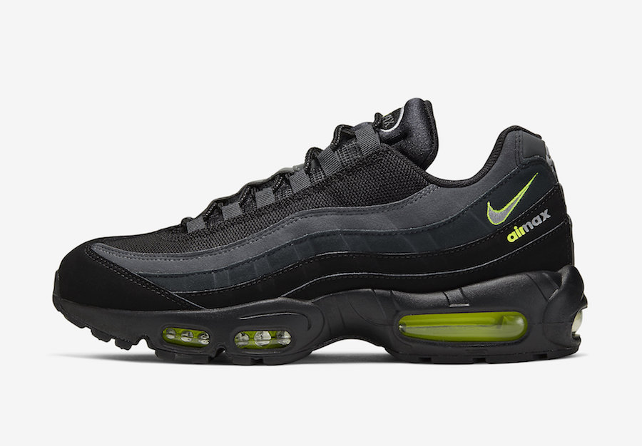 Nike Air Max 95 Retro Logo Black Neon Volt CV1635 002