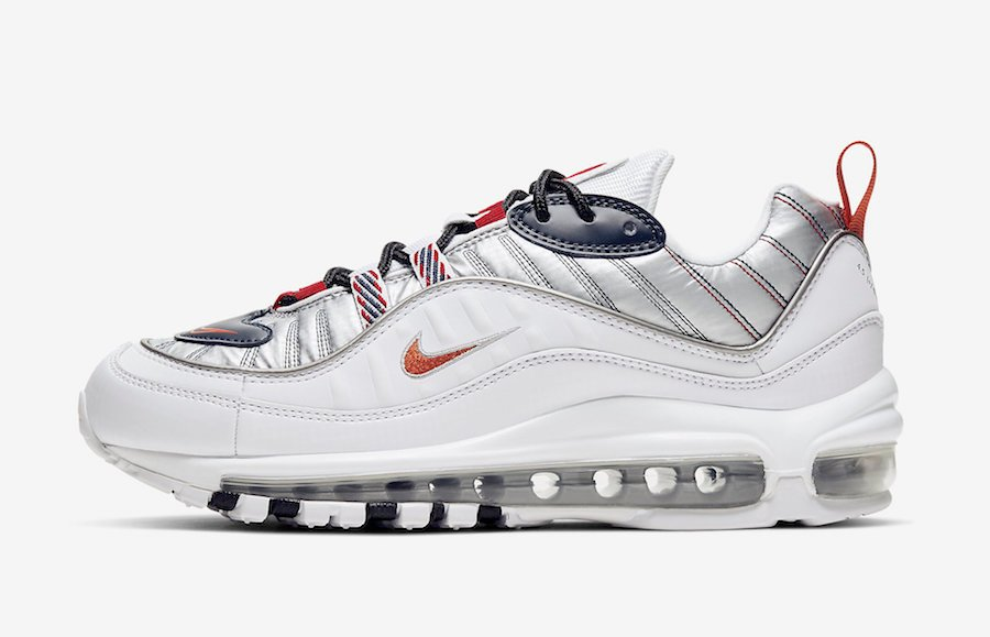 Stagione plastica Impermeabile  Nike Air Max 98 Starfish Wolf Grey Gym Red CQ3990 100 Release Date Info  SneakerFiles