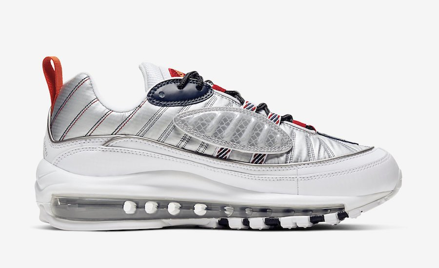 Nike Air Max 98 Starfish Wolf Grey Gym Red CQ3990-100 Release Date Info