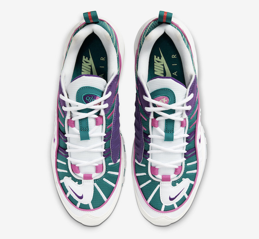 Nike Air Max 98 White Green Purple Pink CI3709-301 Release Date Info