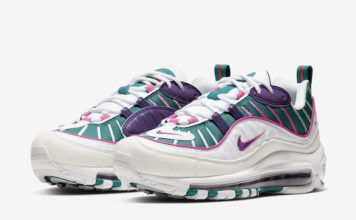 Nike Air Max 98 White Green Purple Pink CI3709-301 Release Date Info