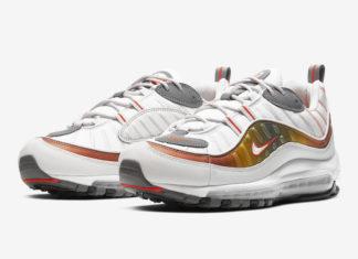 Nike Air Max 98 White Grey Orange CD0132-002 Release Date Info