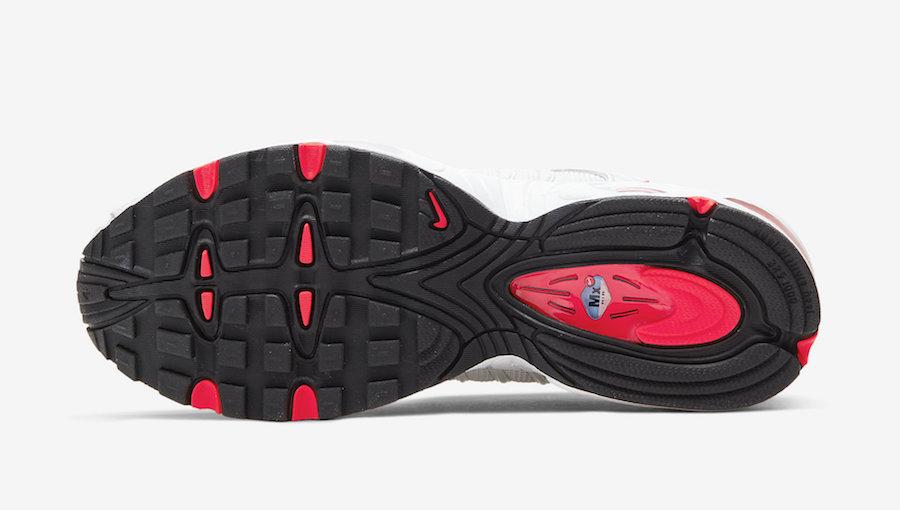 Nike Air Max Tailwind 4 White Black Crimson CV3017-001 Release Date Info