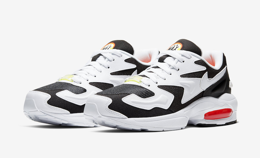 Nike Air Max2 Light Black White Orange Volt CK2602-001 Release Date Info