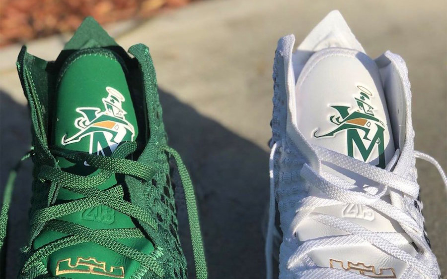 Nike LeBron 17 PE SVSM Home White Away Green