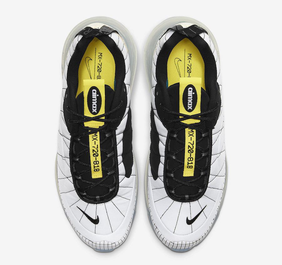 Nike MX 720-818 White Black Yellow CI3871-100 Release Date Info