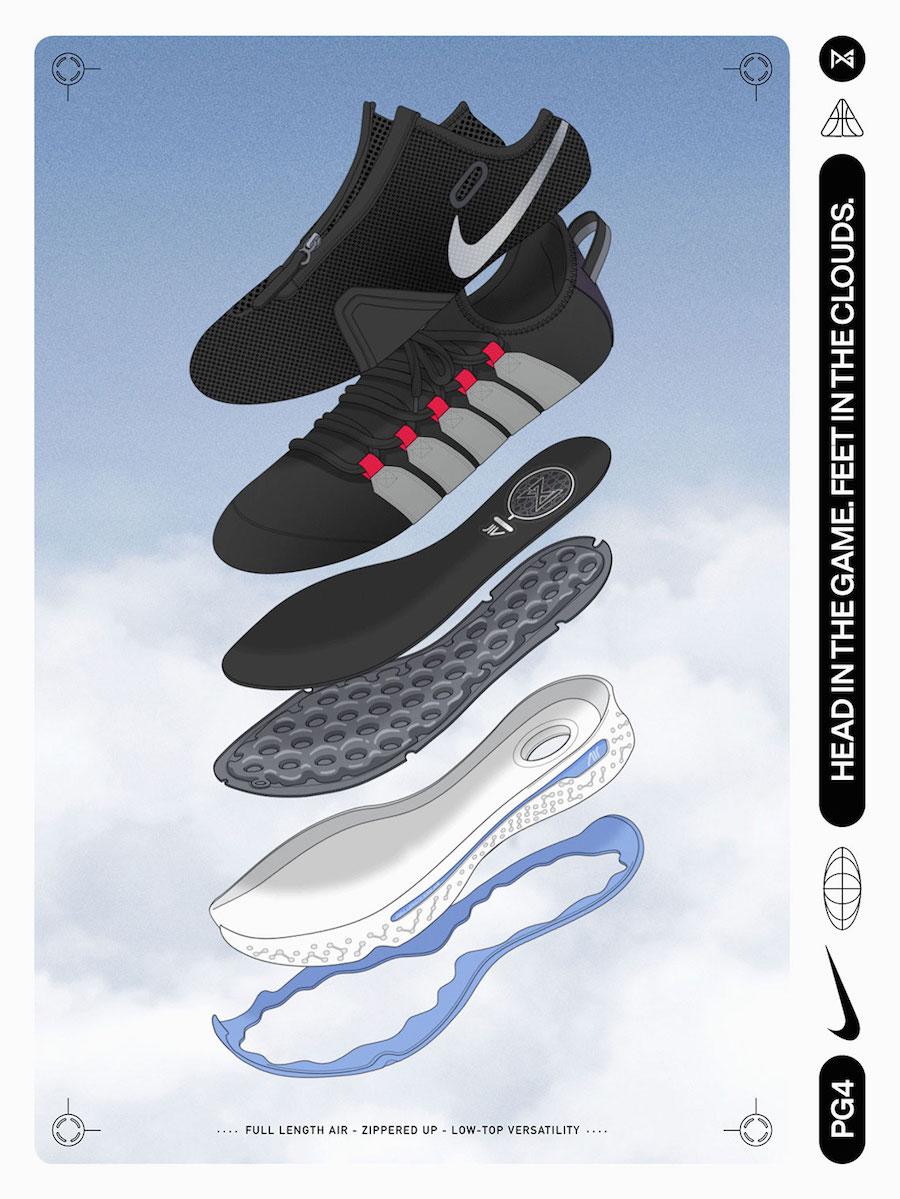 Nike PG 4 Black White Smoke Grey CD5079-001