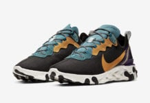 Nike React Element 55 PRM Black Mineral Cyan Voltage Purple Rising Pollen Yellow CI9593-002 Release Date Info