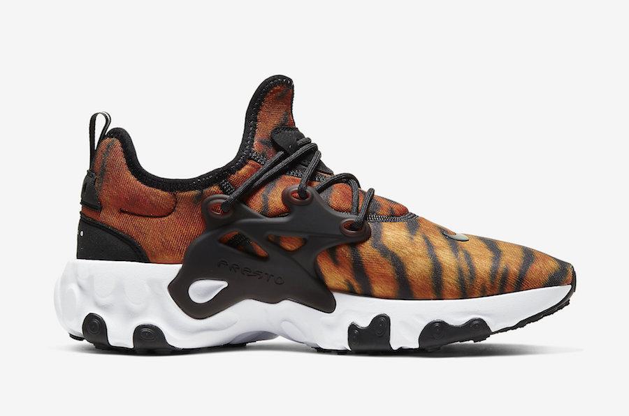 Nike React Presto Tiger CN7664 800 Release Date Info