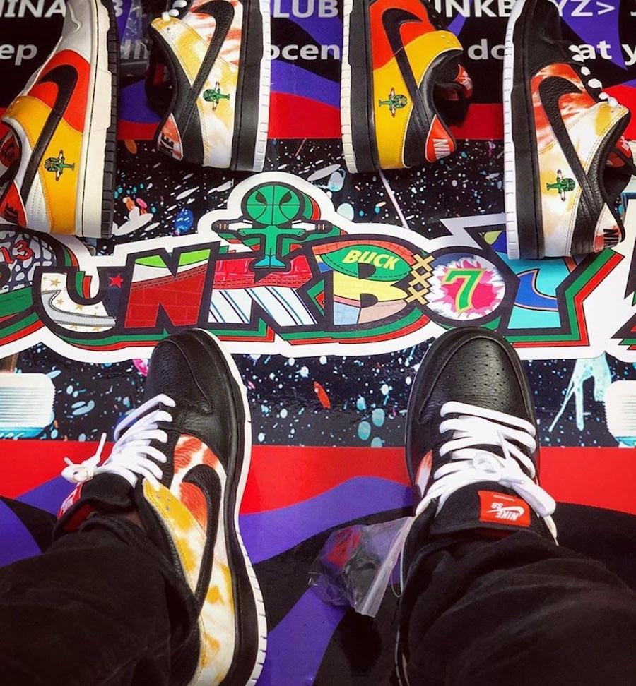 Nike SB Dunk Low Raygun Tie-Dye Release Date Info