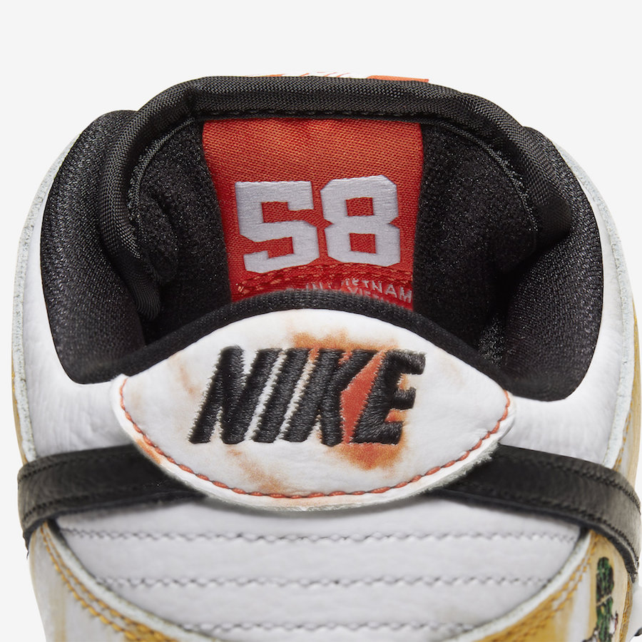 Nike SB Dunk Low Raygun Tie-Dye White BQ6832-101 Release Date