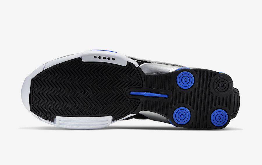 Nike Shox BB4 White Black Blue AT7843-102 Release Date Info