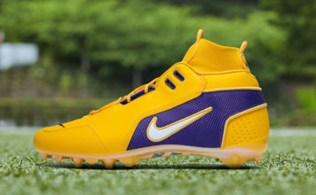 OBJ Nike Vapor Untouchable Pro 3 Cleat LSU Lakers