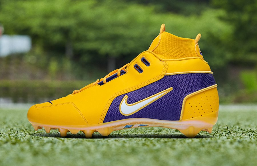 OBJ Nike Vapor Untouchable Pro 3 Cleat LSU Lakers