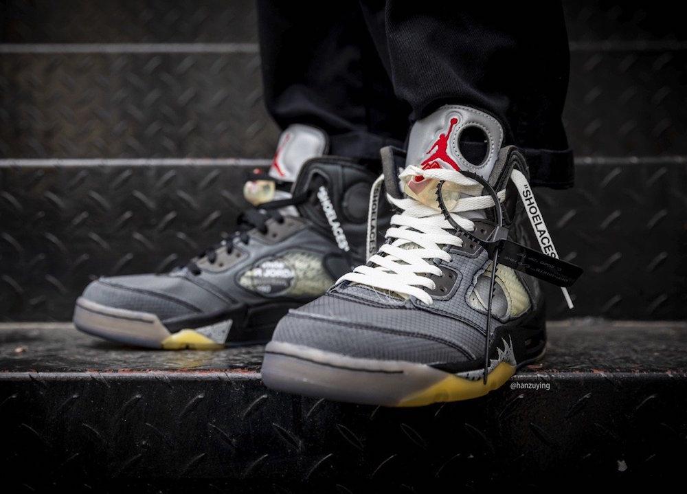 Off-White Air Jordan 5 CT8480-001 On Feet