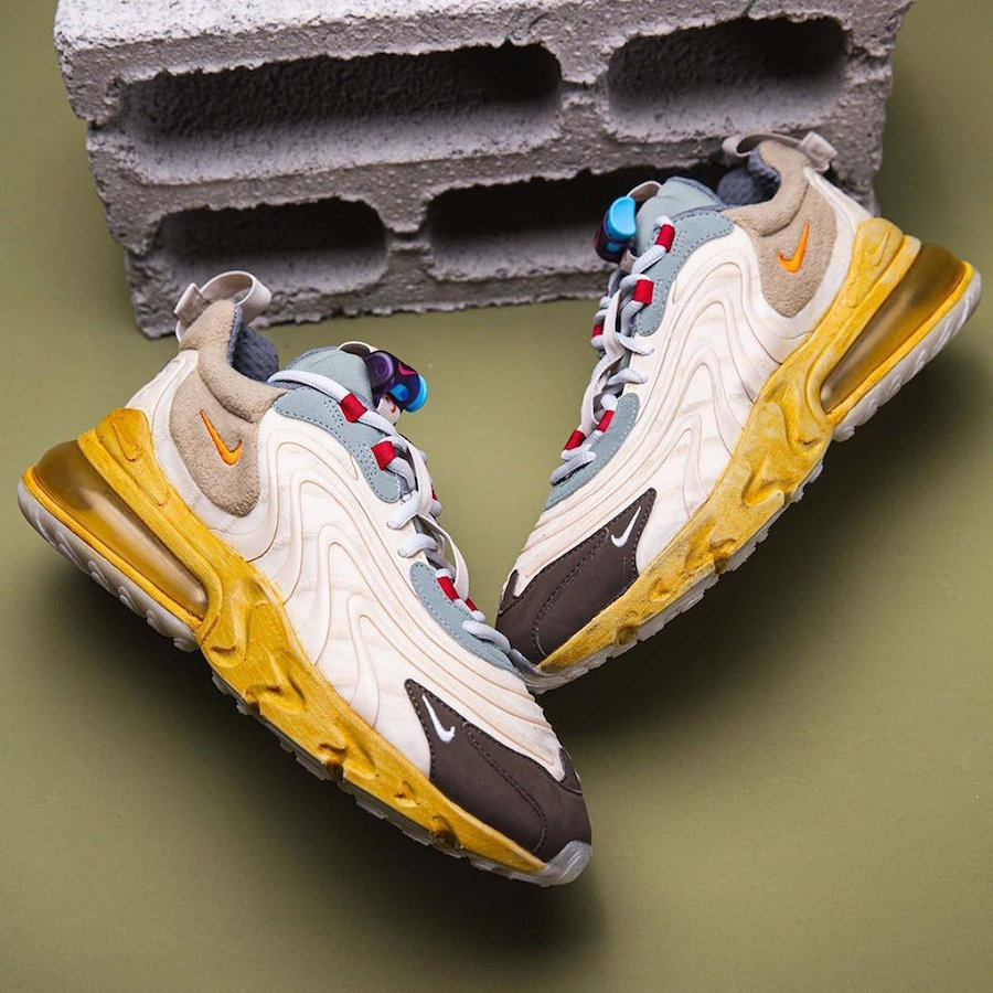 Travis Scott Nike Air Max 270 React Cactus Jack CT2864-200 Release