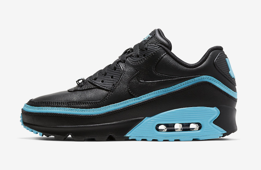 Undefeated Nike Air Max 90 Black Blue Fury CJ7197-002 Release Date