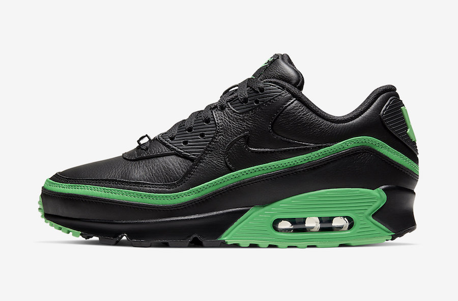 Undefeated Nike Air Max 90 Black Green Spark CJ7197-004 Release Date