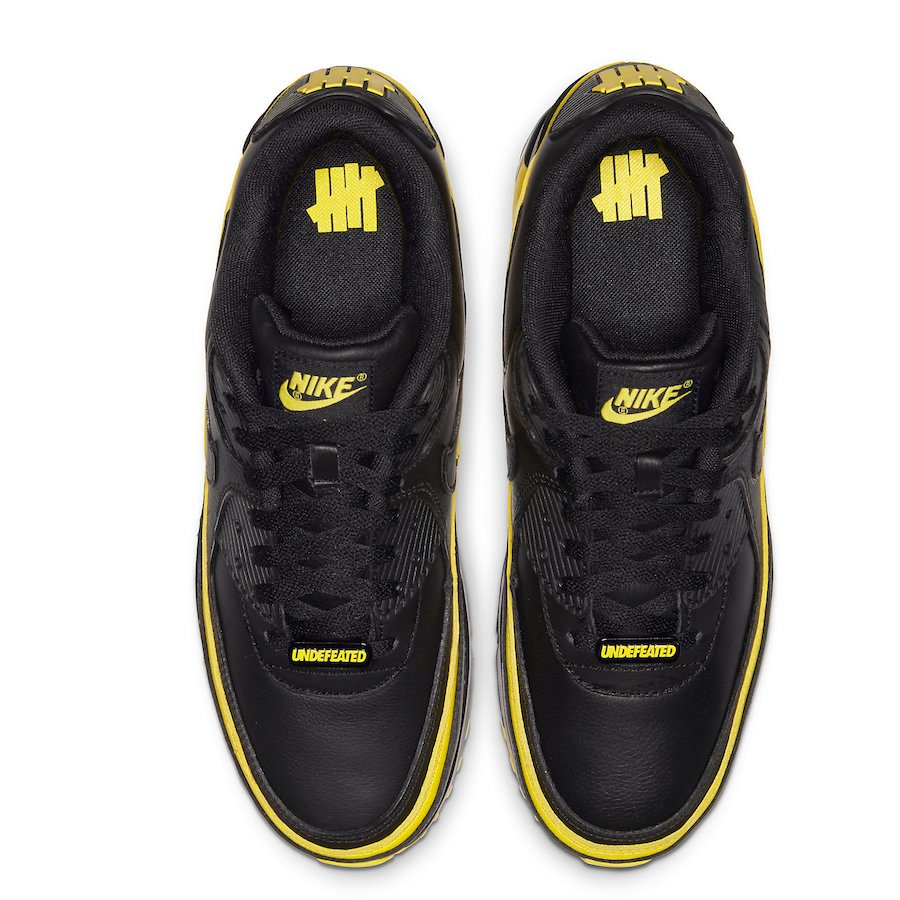 Undefeated Nike Air Max 90 Black Optic Yellow CJ7197-001 2019 Release Date