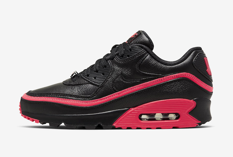 Undefeated Nike Air Max 90 Black Solar Red CJ7197-003 Release Date