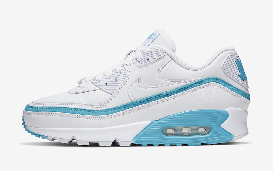 Undefeated Nike Air Max 90 White Blue Fury CJ7197-102 Release Date