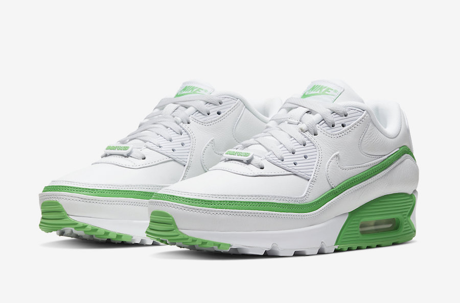 Undefeated Nike Air Max 90 White Green Spark CJ7197-104 Release Date