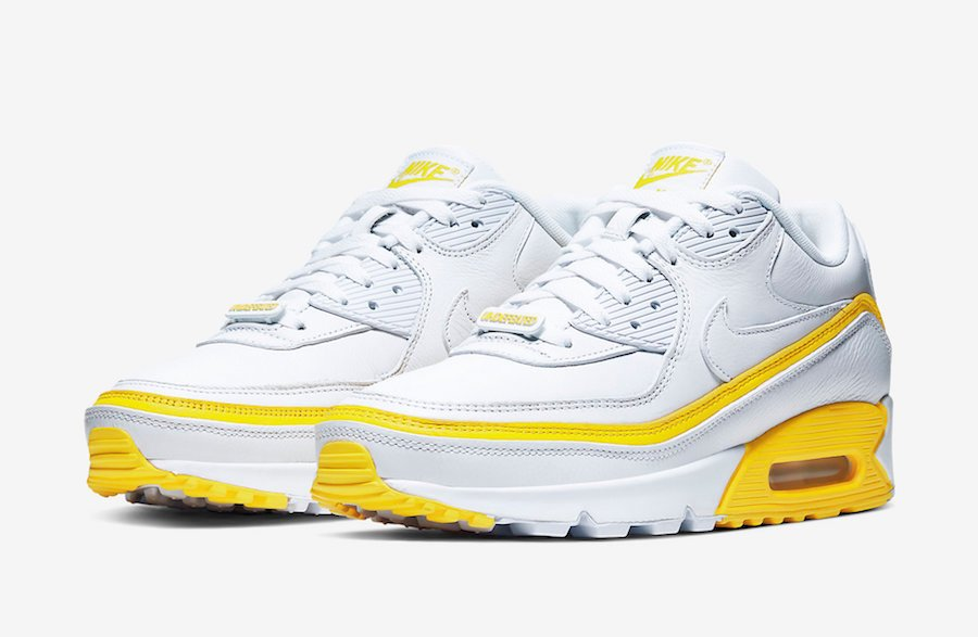 Undefeated Nike Air Max 90 White Optic Yellow CJ7197-101 2019 Release Date