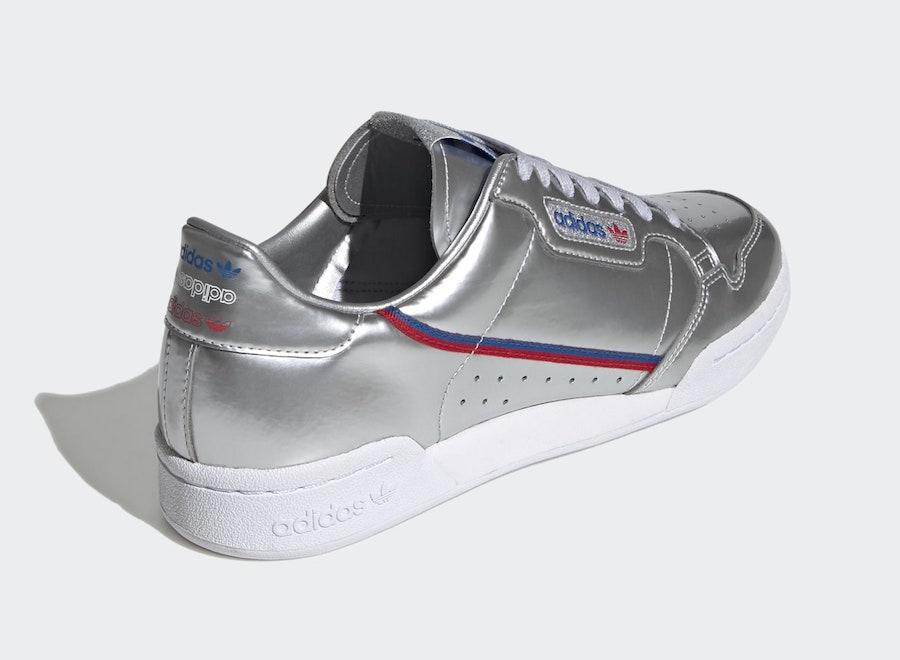 adidas Continental 80 Silver Metallic FW5350 Release Date Info