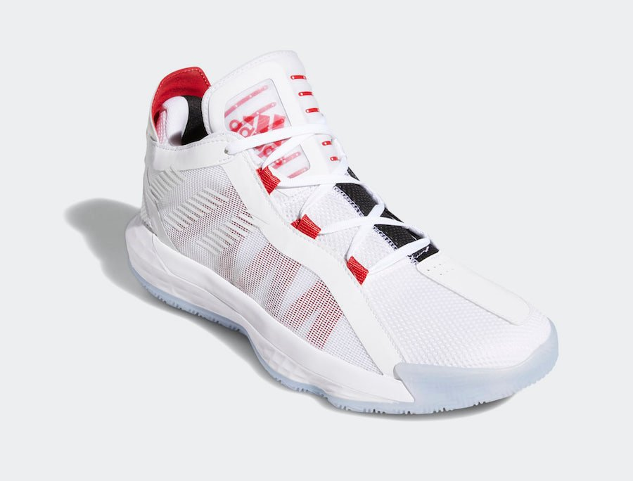 adidas Dame 6 White Scarlet EH2069 Release Date Info