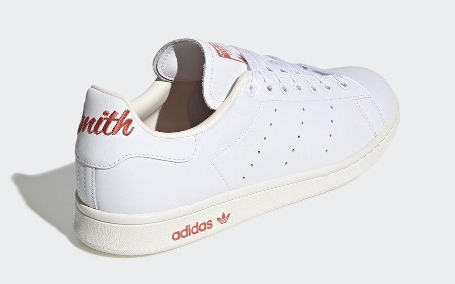 adidas Stan Smith Script Trace Scarlet EF4258 Release Date Info