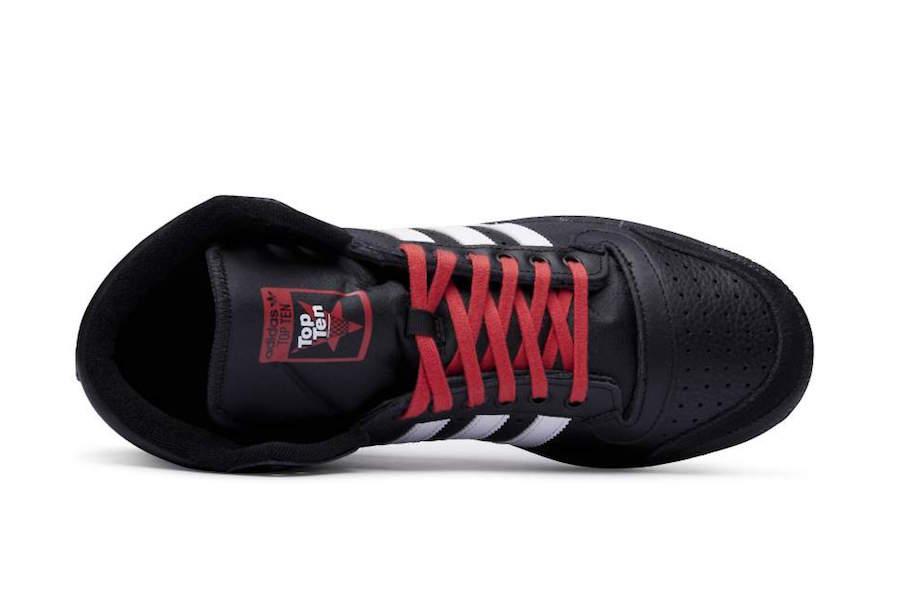 adidas Top Ten Hi Black White Red EF6365 Release Date Info