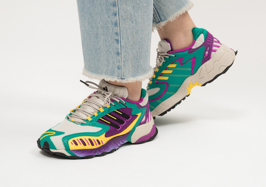 adidas Torsion TRDC WMNS Clear Brown Black Glory Green EG8445 Release Date Info