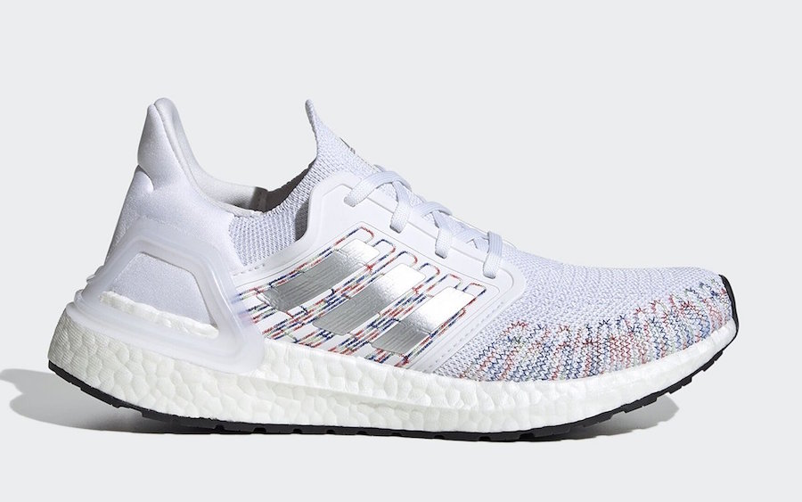 adidas Ultra Boost 2020 Multi Color White EG0728 Release Date Info