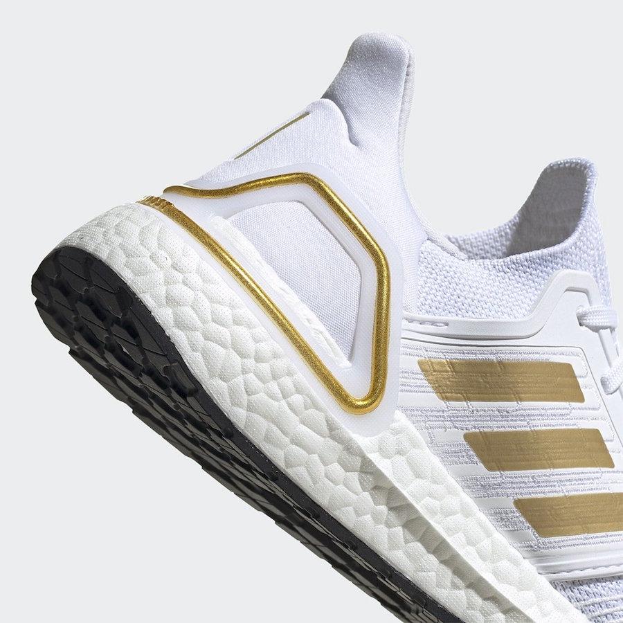 adidas Ultra Boost 2020 White Gold EG0727 Release Date Info