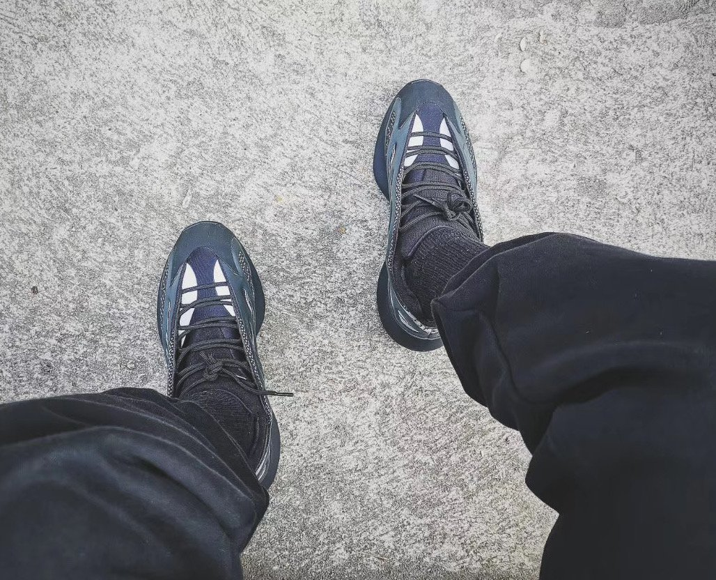 adidas Yeezy 700 V3 Black On Feet